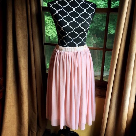 df0dbf551e V28 Skirts   Dusty Rose Tulle Skirt   Poshmark